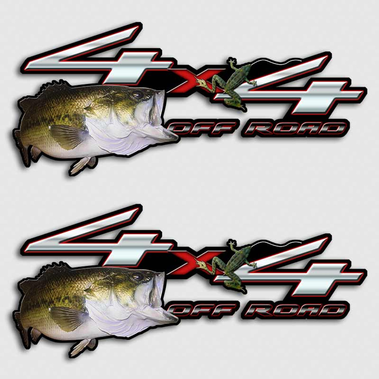 FX Bass Fishing Ford Truck Decals - Fishing decals for trucks