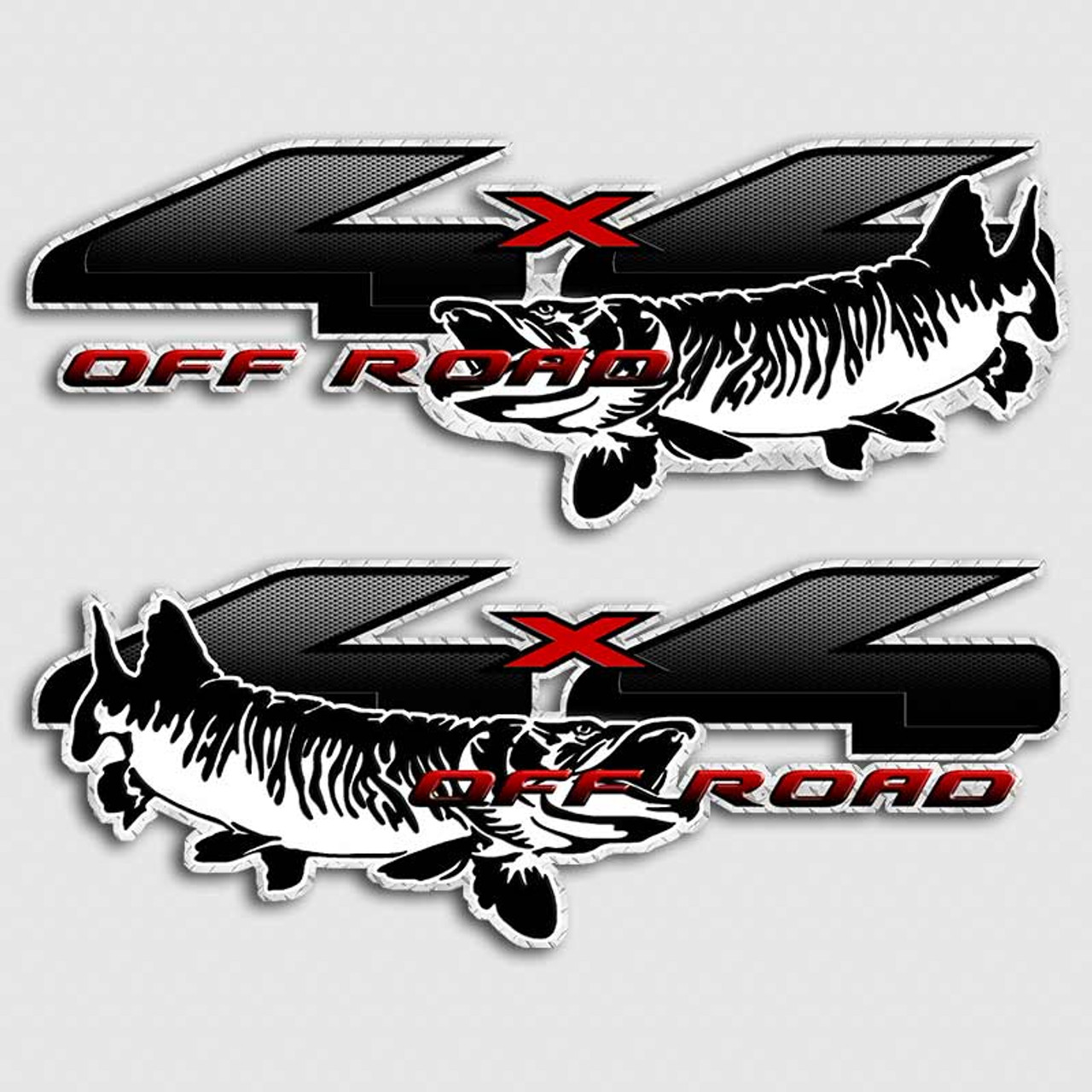 X Fishing Truck Decals Off Road Angling Vehicle Stickers - Truck decals