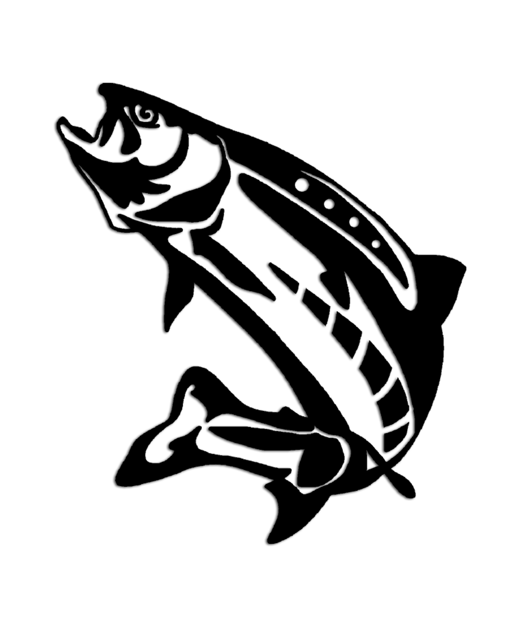 Lake trout fishing sticker aftershock decals for Free fishing stickers