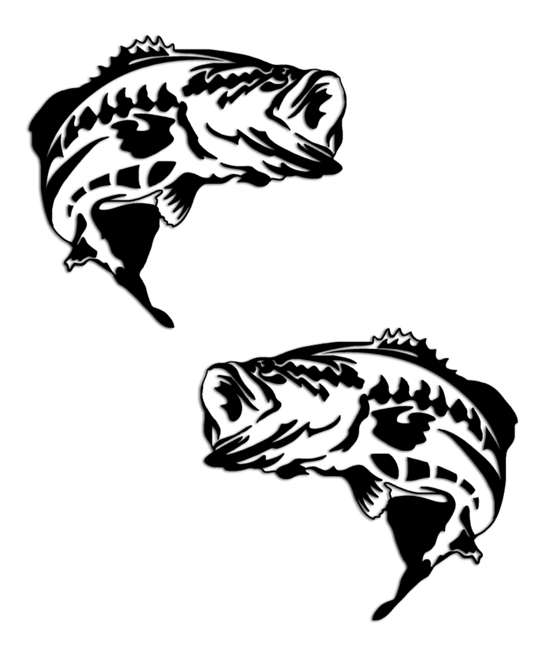 Largemouth Bass Fishing Sticker Set Aftershock Decals