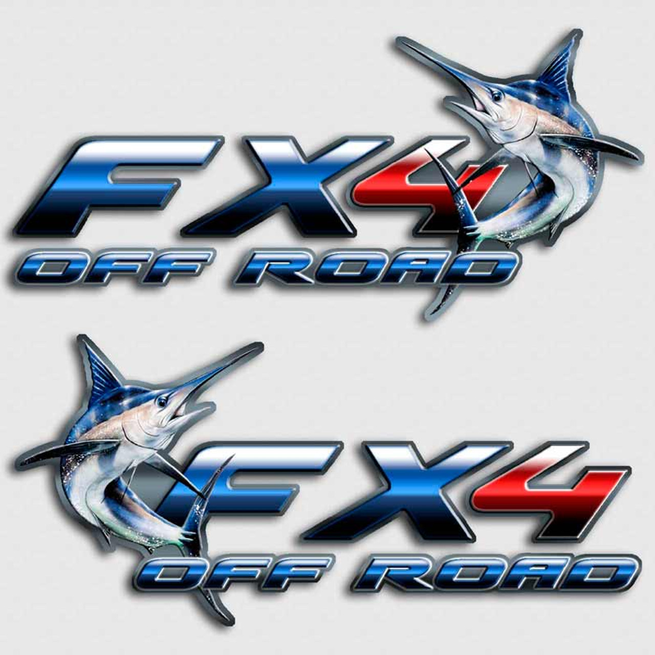 Blue Marlin FX Truck Decals Sport Fishing Charter Stickers - Fishing decals for trucks
