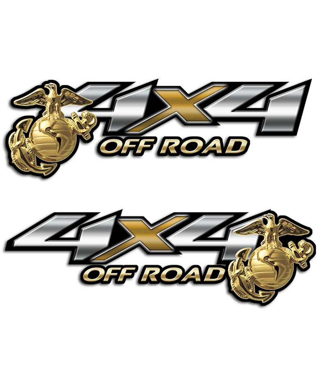 X Military Truck Decals USMC Marines Army Air Force Stickers - 4x4 truck decals