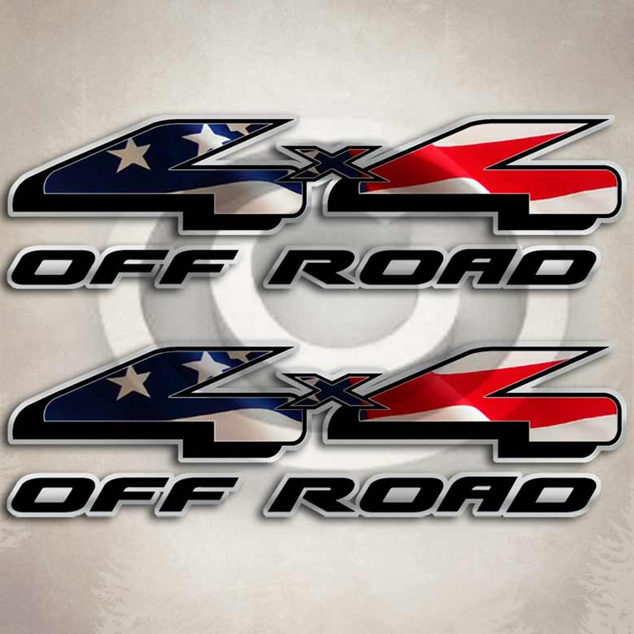 X American Flag Ford F Truck Decals - Truck decals