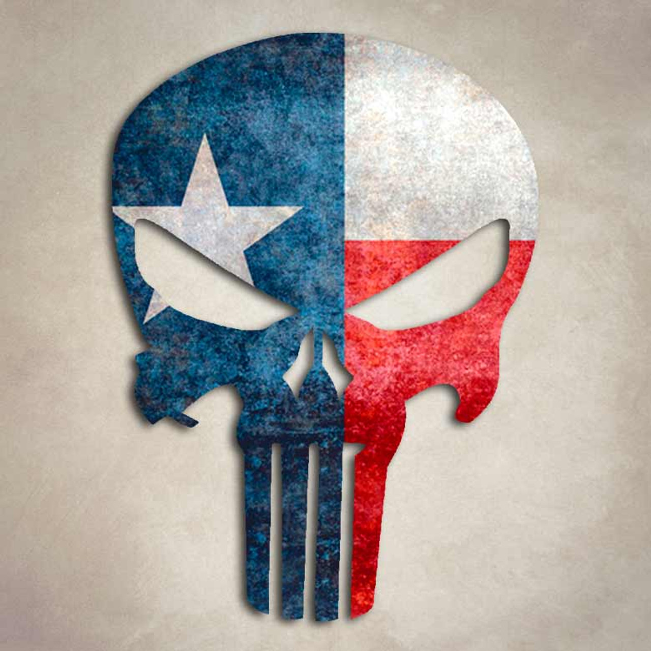 Texas Punisher Flag Lone Star Decal