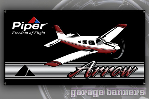 Piper Arrow Aircraft Banner