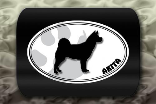 Akita Dog Paw Oval