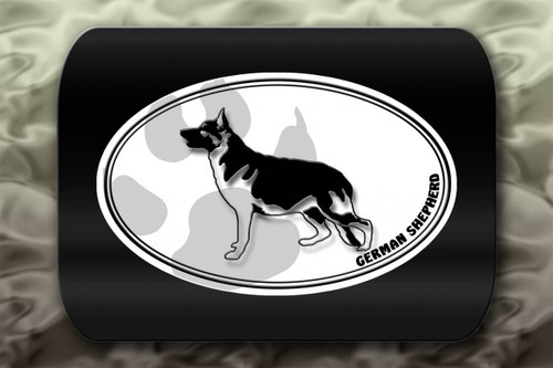 German Shepherd Dog Paw Oval