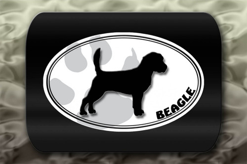 Beagle Dog Paw Oval