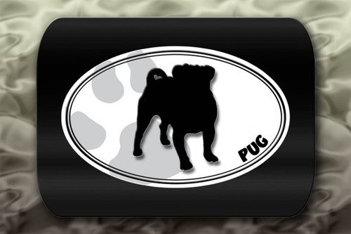 Pug Dog Paw Oval