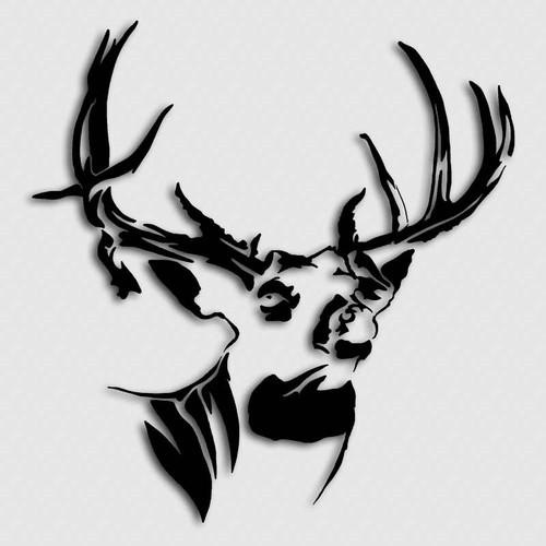 Whitetail Mossy Buck Deer Decal