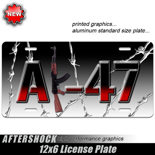 Barbed Wire AK-47 Plate