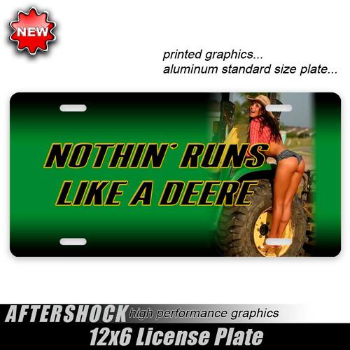 John Deere Tractor Girl Plate
