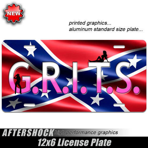 GRITS Rebel Flag Plate
