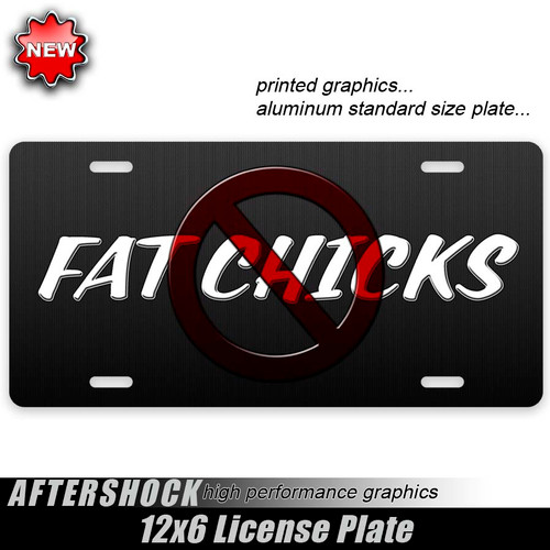 No Fat Chicks Plate
