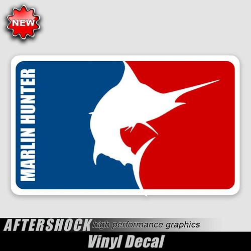 Marlin Hunter Logo Sticker