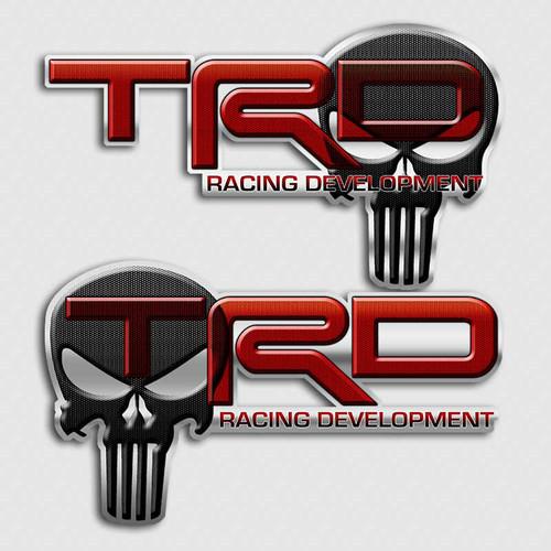 TRD Punisher Skull Truck Decals