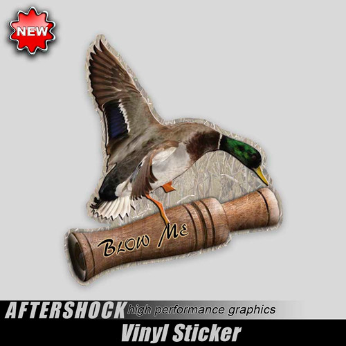 Blow Me Mallard Sticker