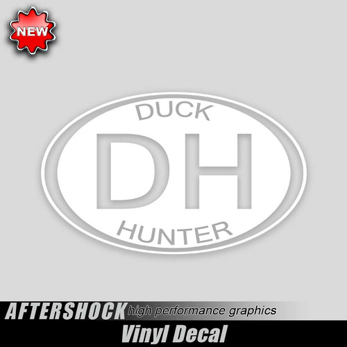 DH Duck Hunter Oval Sticker