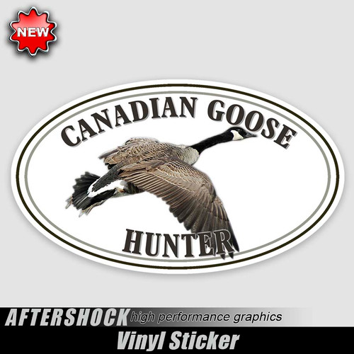 Canadian Goose Drift Oval Sticker