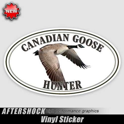 Canadian Goose Flight Oval Sticker