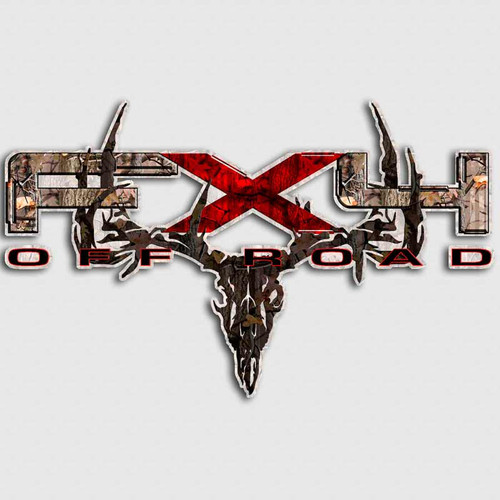 FX4 Camo Skull Red F-150 Truck Decals