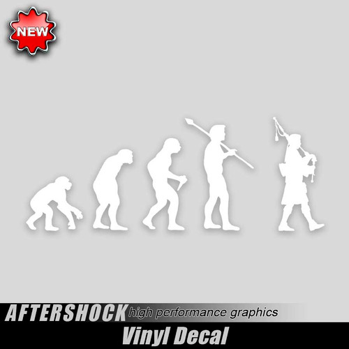 Bagpipes Irish Evolution Sticker