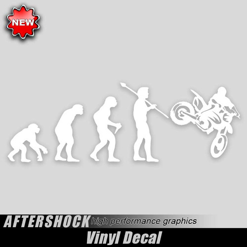 Dirtbike Evolution Sticker