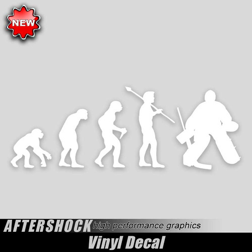 Hockey Goalie Evolution Sticker