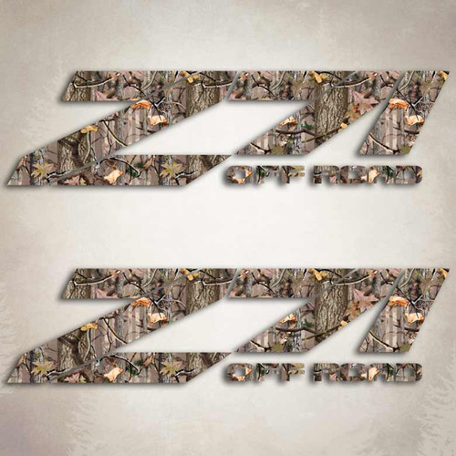 Z71 Off Road Twisted Timber Camo Stickers