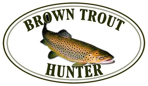 Brown Trout Fish Hunter Sticker