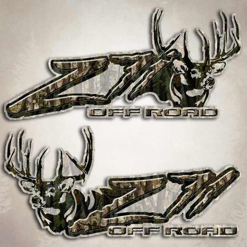 Z71 Camouflage Deer Off Road Decals