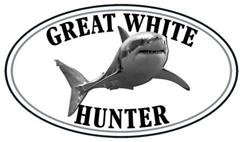Great White Shark Hunter Sticker
