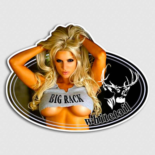 Whitetail Blonde Bombshell Deer Sticker