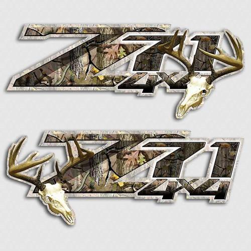 4x4 Z71 Deer Skull Silverado Stickers