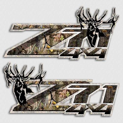 Z71 Elk Hunting 4x4 Silverado Stickers