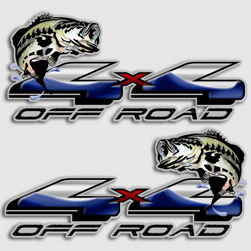 X Walleye Truck Fishing Decals Off Road Fish Stickers For Trucks - 4x4 truck decals