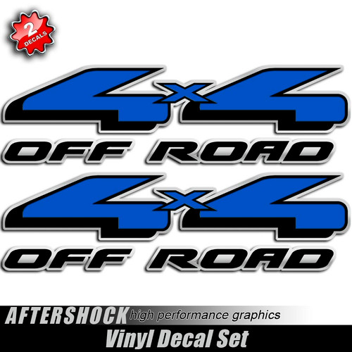 4x4 Blue and Black F-150 Decals