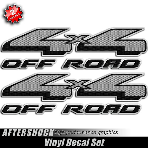 4x4 Carbon Gray F-150 Decals