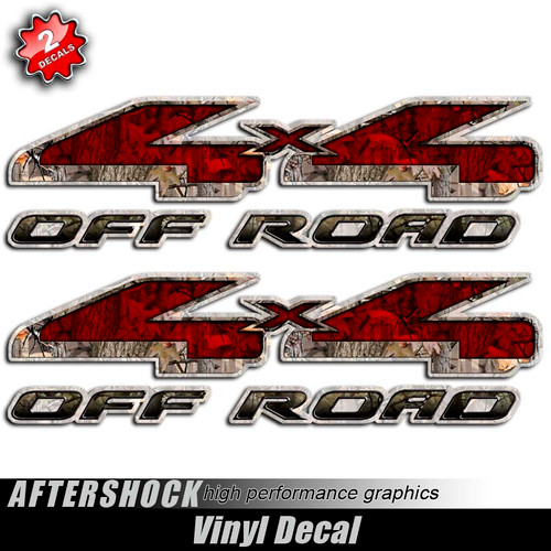 4x4 Twisted Timber Red Devil Decals