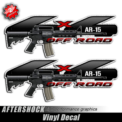 4x4 AR-15 Assault Rifle F-150 Gun Decals