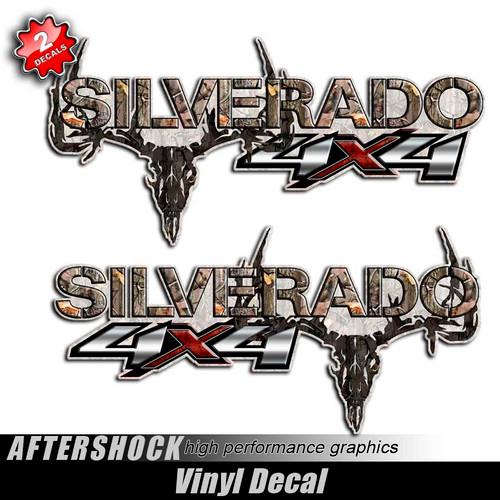 4x4 Silverado Camo Skull Truck Decals
