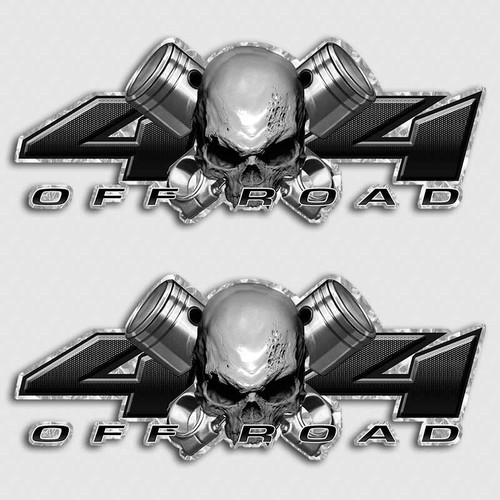 X Skull Truck Decals Ford Chevy Dodge Off Road Sticker - Skull decals for trucks