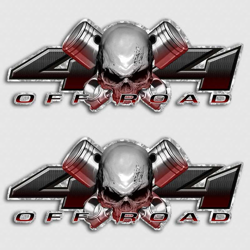 4x4 Red Devil Piston Skull Truck Decals
