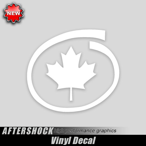 Canadian Maple Leaf Decal Inside Swirl