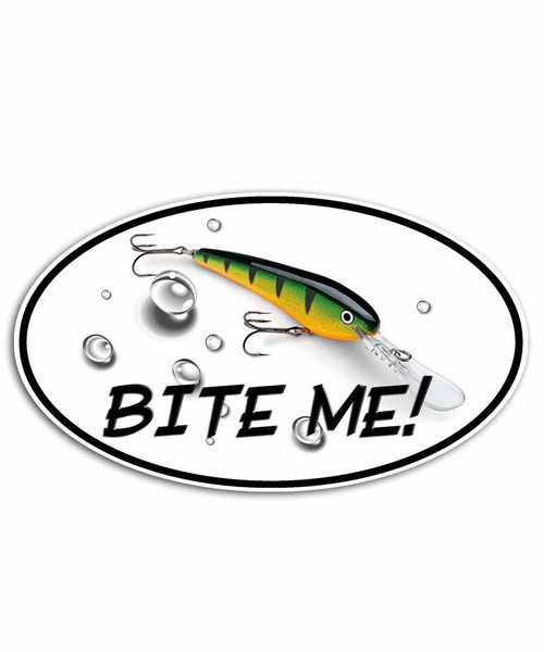 Bite Me Perch Shad Fishing Sticker