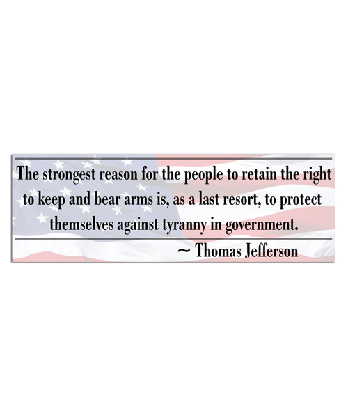 Right To Bear Arms Gun Bumper Sticker