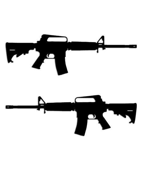Bushmaster AR-15 Assault Rifle Sticker