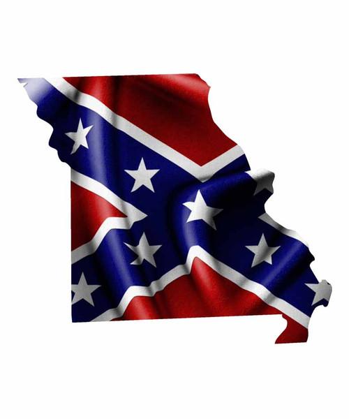 Missouri Rebel Flag Sticker