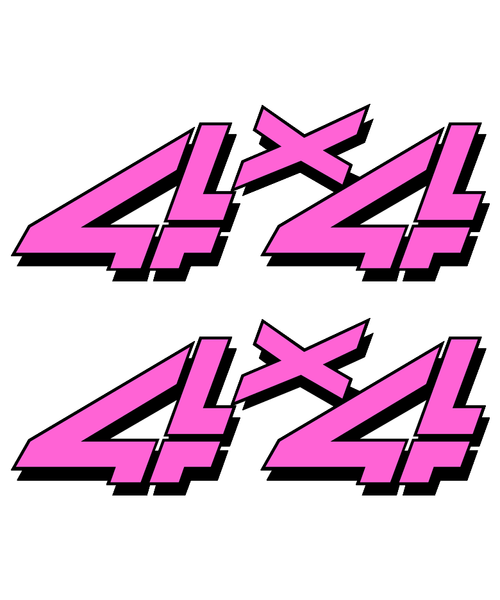 Playboy Pink 4x4 Truck Sticker set