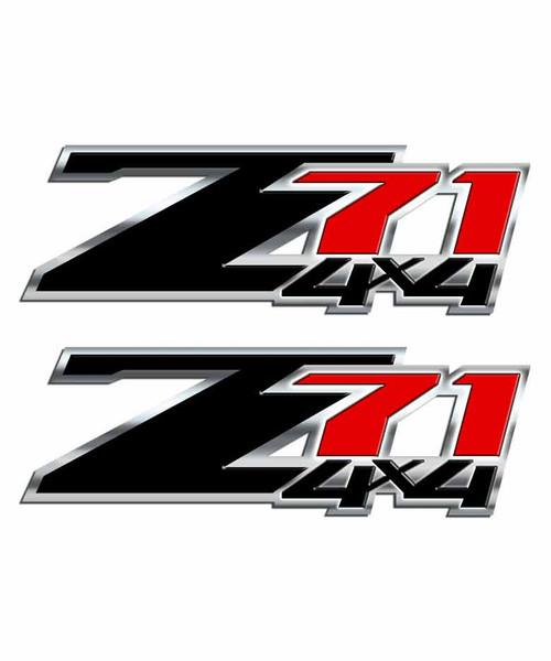 Z71 Black and Red 4x4 Sticker Set